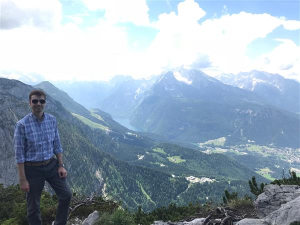 Mr. Cahn in the German Alps in June 2018.
