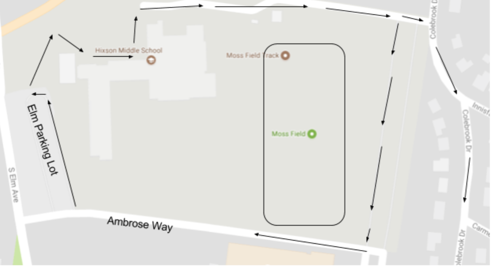Hixson arrival and dismissal map
