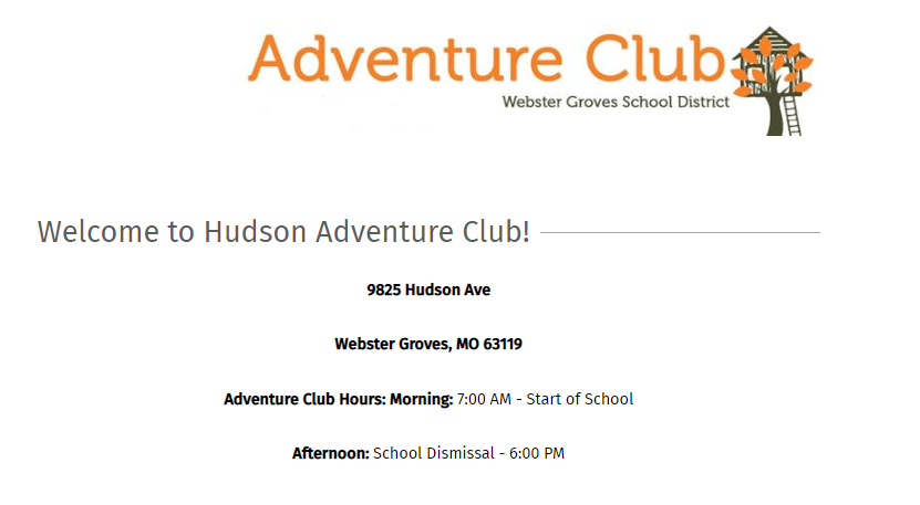 Welcome to Hudson Elementary Adventure Club
